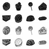 Isolated Object Of Confectionery And Culinary Logo. Collection Of Confectionery And Product Stock Ve poster