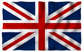 Waving Flag Of The Great Britain. British Flag. United Kingdom Of Great Britain And Northern Ireland poster