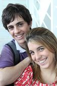image of gullible  - Portrait of a young man and woman - JPG