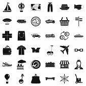 Crossroad Icons Set. Simple Style Of 36 Crossroad Icons For Web Isolated On White Background poster