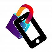 The Phone Is Locked. Lock In A Smart Phone Icon. Padlock Of Cyber Security For Mobile Concept And We poster
