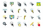 Cursor Icon Set. Flat Set Of Cursor Icons For Web Design Isolated On White Background poster