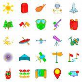 Survey Icons Set. Cartoon Set Of 25 Survey Icons For Web Isolated On White Background poster