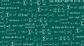 Creative Vector Illustration Of Math Equation, Mathematical, Arithmetic, Physics Formulas Background poster