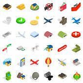 Military Affairs Icons Set. Isometric Set Of 36 Military Affairs Icons For Web Isolated On White Bac poster