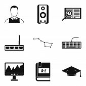 Researcher Science Icons Set. Simple Set Of 9 Researcher Science Icons For Web Isolated On White Bac poster