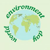 World Environment Day. Ecology Concept. Environment Plastic Pollution. Eco Friendly Concept. Green E poster