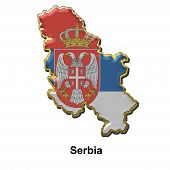 Serbia Metal Pin Badge poster