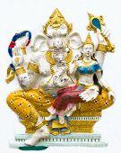 stock photo of ganapati  - Hindu ganesha God Named Maha Ganapati at temple in thailand - JPG