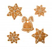 Picture of decorated homemade gingerbread cookies.