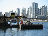 picture of coal barge  - a dirt barge on the vancouver ocean - JPG