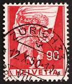 Postage Stamp Switzerland 1959 Standard Bearer