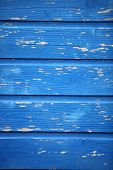 Texture Of Blue Painted Wooden Planks