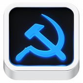 foto of communist symbol  - Socialism symbol luminous square shape application icon - JPG