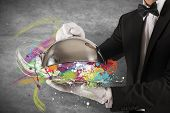 stock photo of first class  - Concept of colorful Creative First Class Service - JPG