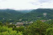 stock photo of gatlinburg  - view of Gatlinburg - JPG