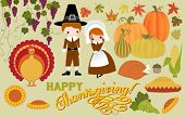stock photo of thanksgiving  - Thanksgiving Symbols and Icons - JPG