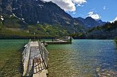stock photo of u-boat  - Saint Mary Lake Glacier National Park Montana U - JPG