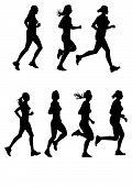 Постер, плакат: Женский марафон