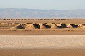 picture of tozeur  - View of the sand dunes near Ong Jemel in TozeurTunisia - JPG