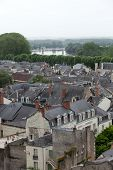 pic of anjou  - Roofs of Chinon town Vienne valley France - JPG