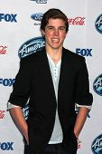 LOS ANGELES - FEB 20:  Sam Woolf at the American Idol 13 Finalists Party at Fig & Olive on February