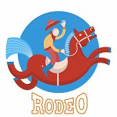 foto of bucking bronco  - Rodeo symbol - JPG