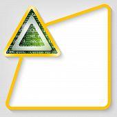 Yellow Vector Text Box For Entering Text With Triangle And Textures The Letters