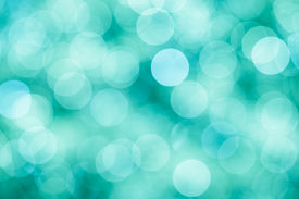stock photo of mint-green  - Blue green and turquoise festive background with bokeh defocused lights vintage mint colors - JPG