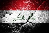 picture of iraq  - Iraq flag Iraq flag war conflict worn distressed - JPG