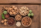 Постер, плакат: Different Kinds Of Nuts