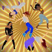 pic of rap-girl  - Girl dancer dosco athletic blue - JPG