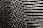 pic of mural  - Wave pattern on granite gray wall closeup - JPG