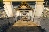 picture of tabernacle  - Stone staircase going down - JPG