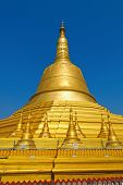 pic of tabernacle  - Shwemawdaw Pagoda on blue sky background - JPG