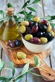 image of kalamata olives  - Mixed marinated olives  - JPG