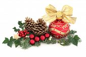 foto of ivy  - Christmas decoration with holly - JPG