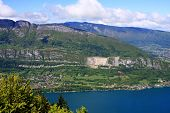 picture of annecy  - Lake Annecy in the French Alps - JPG