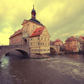 foto of regnitz  - The Old Town Hall of Bamberg - JPG