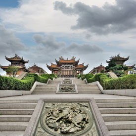 foto of taoism  - Chinese traditional temple - JPG