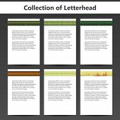 stock photo of letterhead  - Collection of Letterheads for Your Business  - JPG