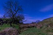 foto of moonlit  - Moonlit Hadrians Wall is in the recently awarded Dark Sky Park in Northumberland