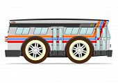 picture of motor-bus  - Funny old American bus - JPG