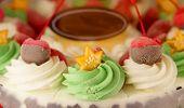 picture of ice-cake  - Colourful ice cream cake for season greeting celebration - JPG