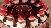 foto of ice-cake  - Colourful chocolate ice cream cake for celebration - JPG