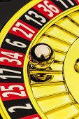 foto of roulette table  - the cylinder of a roulette gambling in a casino - JPG