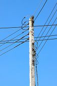 pic of pole  - Electrical wire on pole - JPG