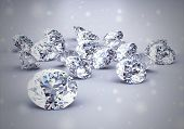 picture of crystal clear  - diamond jewel High resolution 3D image Vintage Style - JPG