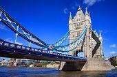 stock photo of hamlet  - Tower Bridge on the River Thames in Tower Hamlets - JPG