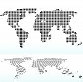 stock photo of cartographer  - EPS 10 Vector illustration of map of World with with Dot Pattern - JPG